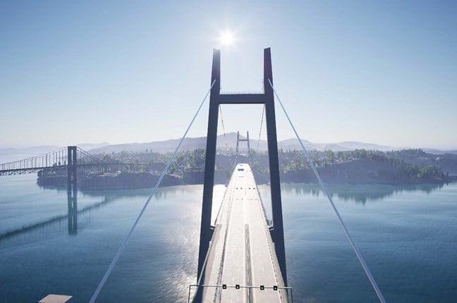 Illustrazione del nuovo ponte Sitra a est