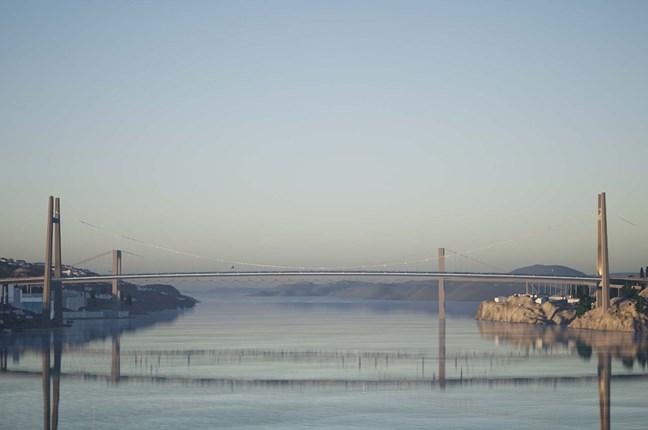 Vista prospettica del vecchio e nuovo ponte Sutra